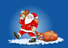 Santa Claus - Blue Sky Royalty Free Stock Image
