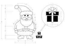 Santa Claus Blueprint Image libre de droits