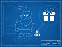 Santa Claus Blueprint Photographie stock libre de droits
