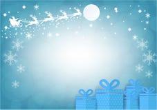 Santa Claus with blur bokeh background. Christmas season. vector illustration Royalty Free Stock Photography