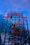 Santa Claus bożonarodzeniowe światła Obraz Stock