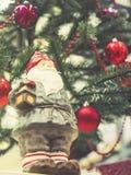 Santa Claus bożych narodzeń ornamentu dekoraci xmas wakacje drzewny plecy Zdjęcie Royalty Free