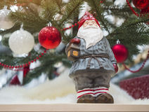 Santa Claus bożych narodzeń ornamentu dekoraci xmas wakacje drzewny plecy Fotografia Stock