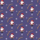 Santa claus Boże Narodzenie wzór Fotografia Royalty Free