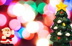 Santa Claus bożego narodzenia drzewo Zdjęcia Stock