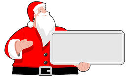 Santa Claus with board stock image