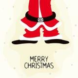 Santa Claus Body für frohe Weihnachten vektor abbildung