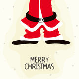 Santa Claus Body for Merry Christmas. Creative illustration of Santa Claus Body for Merry Christmas celebration Stock Photos