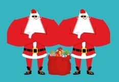 Santa Claus bodyguards. Christmas security guards. Protecting re Royalty Free Stock Photos