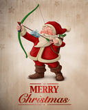 Santa Claus-Bogenschützegrußkarte Stockfotografie