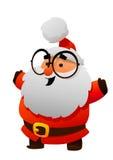 Santa Claus bonito com personagem de banda desenhada dos vidros Imagem de Stock