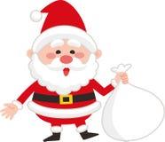 Santa Claus bonito com saco ilustração royalty free