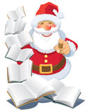 Santa Claus with books Stock Photos