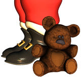 Santa Claus boots. 3d rendering the Santa Claus boots than illustration Royalty Free Stock Image