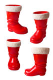 Santa Claus boots isolated on white. Set of Santa Claus boots isolated on white with clipping path Stock Photography