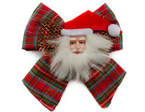 Santa Claus bow Royalty Free Stock Image