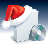 Santa Claus box Stock Images