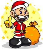 Santa claus boy 02. An happy boy wearing santa claus outfit Stock Photos