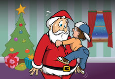 Santa Claus boy Stock Photo