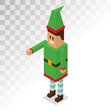 Santa Claus boy helper cartoon elf vector 3d Royalty Free Stock Photography