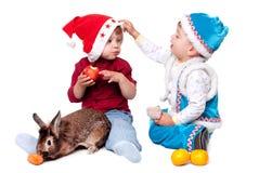Santa Claus boys Stock Photo