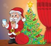 Santa Claus breakfast theme 5 royalty free illustration