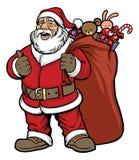 Santa claus bring a bag full of gift Stock Photo