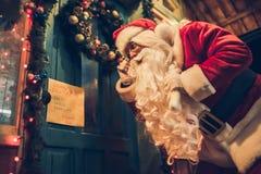 Santa Claus outdoors Royalty Free Stock Image