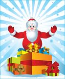 Santa Claus bringing presents Royalty Free Stock Image