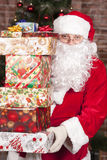 Santa Claus brings Christmas gifts Stock Image