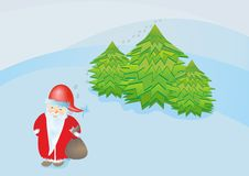 Santa Claus brings gifts Royalty Free Stock Photography