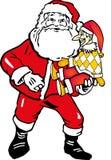 Santa Claus and buffoon Stock Image