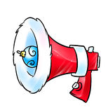 Santa Claus bullhorn Christmas Royalty Free Stock Images