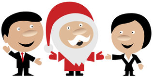 Santa Claus and business people Royalty Free Stock Photography