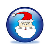 Santa claus button Stock Photo