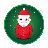 Santa Claus button Royalty Free Illustration