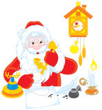 Santa Claus calling on the phone Stock Photo