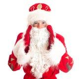 Santa Claus is calling someone. Stock Photos