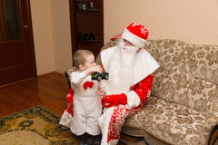 Santa Claus came to visit Royalty Free Stock Images