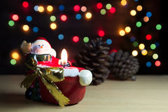Santa Claus candle Stock Images