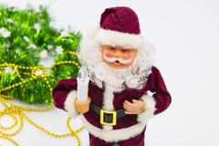 Santa Claus with candle Royalty Free Stock Images