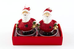 Santa claus candles Stock Photos