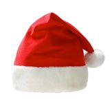 Santa claus cap. Isolated on a white background Royalty Free Stock Photography