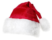 Santa Claus cap isolated. Red Santa Claus cap isolated on a white background Royalty Free Stock Image