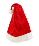 Santa Claus cap, on white background Royalty Free Stock Image