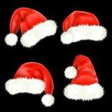Santa Claus caps. Mesh. Stock Image
