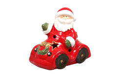 Santa Claus in a car figurine Stock Photography
