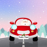Santa Claus on car. Illustration of Santa Claus on car stock illustration