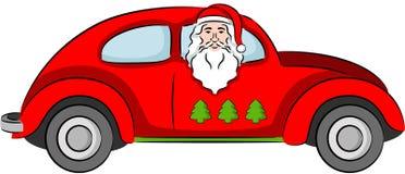 Santa Claus in Car Stock Photos
