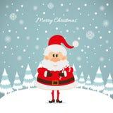 Santa Claus with caramel cane Stock Photo